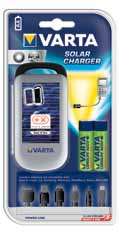 SOLAR CHARGER - 2 X AA READY2USE 2100MAH + USB IN + OUT VARTA