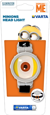 15611 MINION HEAD LIGHT 1AAA VARTA
