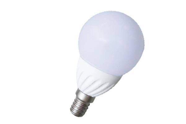 LAMPADA LED 5W E14 MINI GLOBO 6000K CORPO CERAMICO  LIGHTX