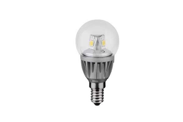 LAMPADA LED 5W E14 SFERETTA   2700 K  TRASPARENTE LIGHTX
