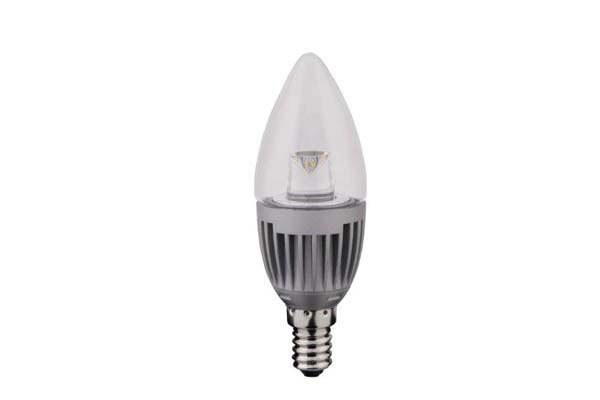 LAMPADA LED 5W E14 OLIVA 4200K  TRASPARENTE  LIGHTX