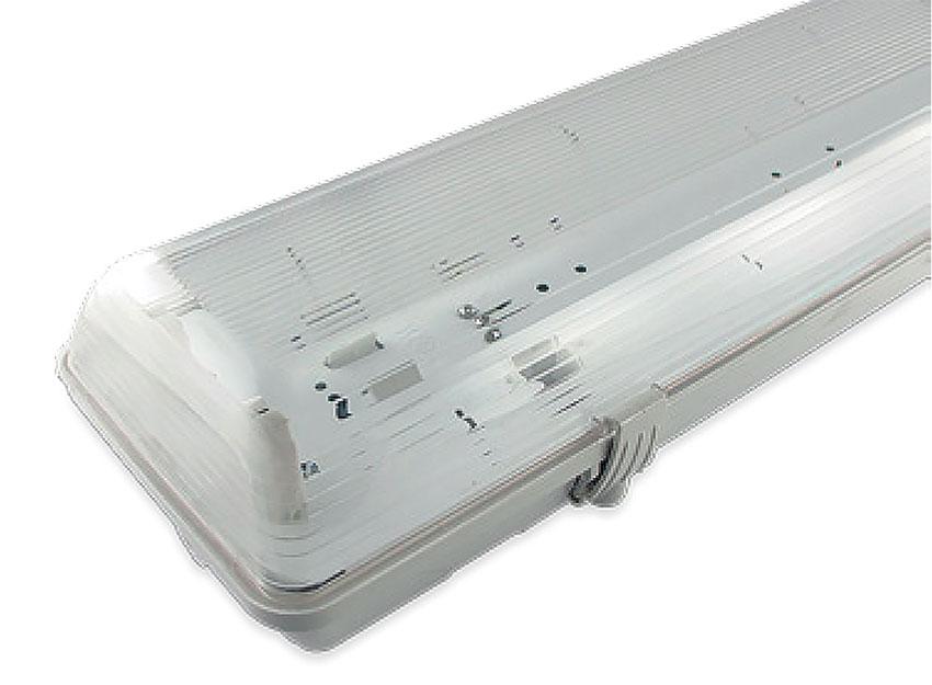 PLAFONIERA PRECABLATA IP65 PER TUBI A LED T8 - 2 X 60CM  LIGHTX