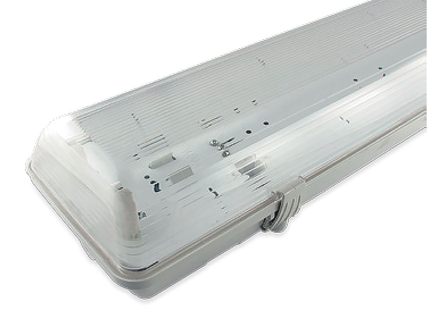 PLAFONIERA PRECABLATA IP65 PER TUBI A LED T8 - 2 X 120 CM  LIGHTX