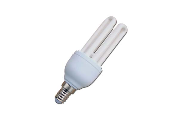 LAMPADA BASSO CONSUMO 15W 4 TUBI 2700K E14  LIGHTX