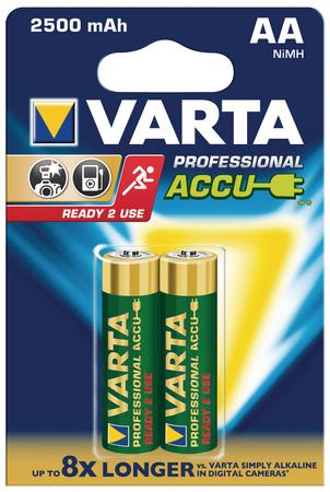 2 X AA (2600 MAH)  PROFESSIONAL ACCU VARTA