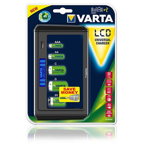 LCD UNIVERSAL CHARGER VARTA