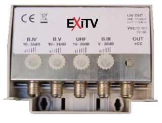 MINI CENTRALINO DA PALO (LOG.25DB 1 UHF 25DB 2 USCITE) EXITV