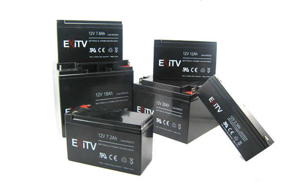 BATTERIA AL PIOMBO 12V 4.5 A FASTON   4.8 MM EXITV