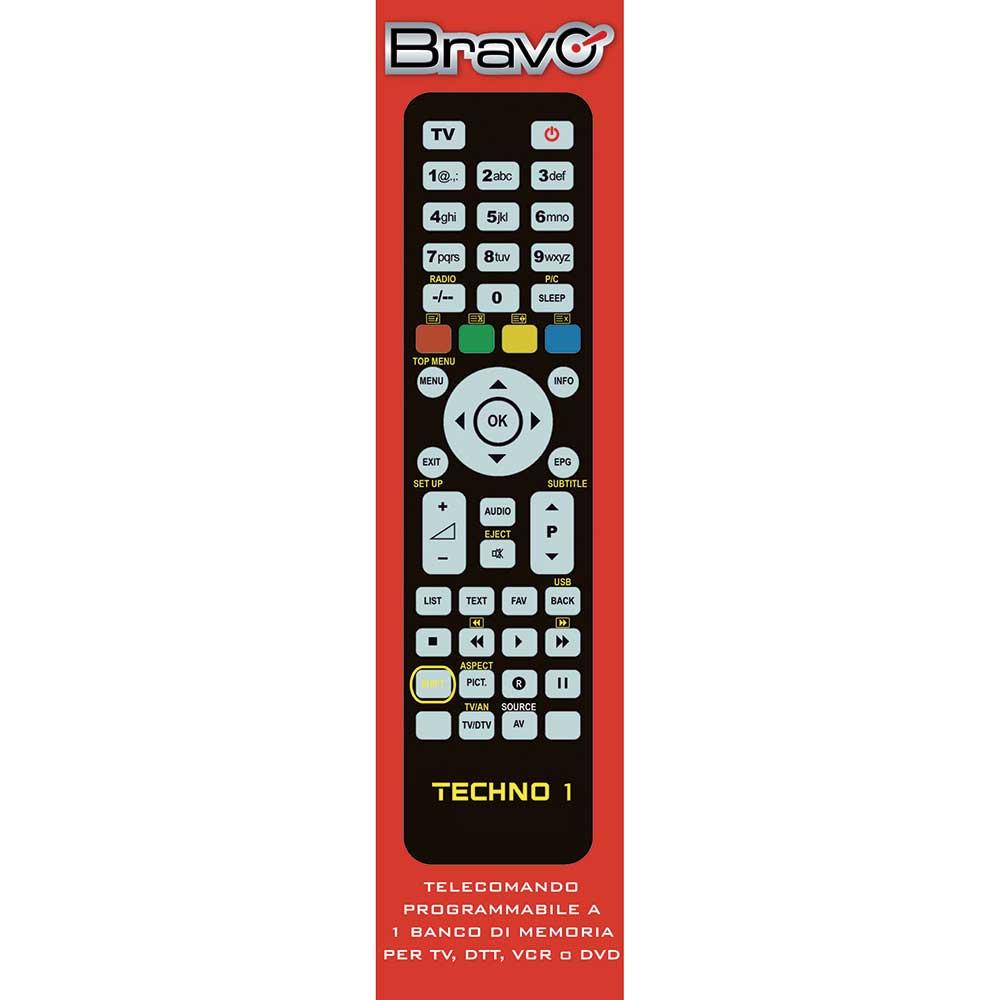 92602665 TECHNO1 TELECOMANDO FAMILY UNIVERSALE PROGRAMMABILE 1:1 BRAVO